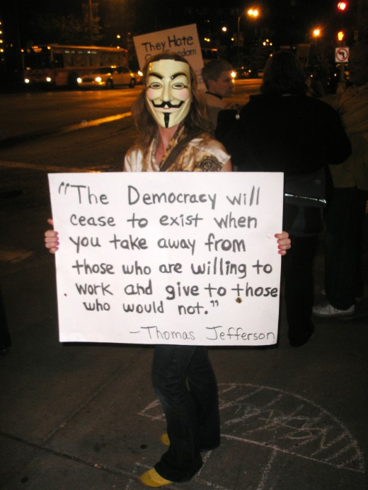 Julie, a protester at Occupy St. Louis.