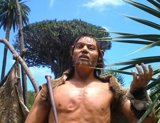 Another Guanche figure in Parque del Drago