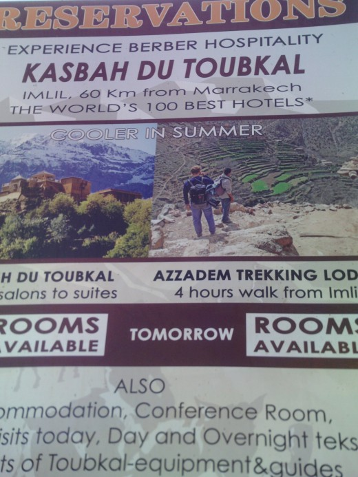 The Kasbah Du Toubkal. Signposted from Imlil