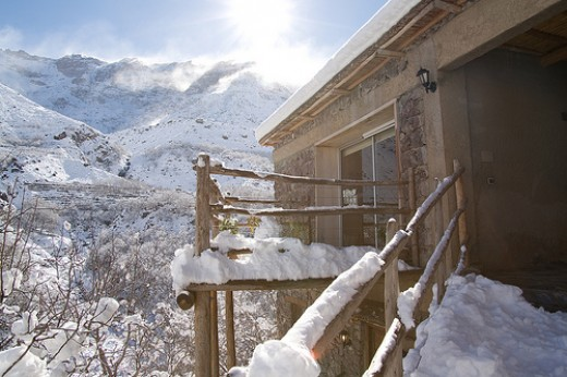 The View from the Kasbah Du Toubkal in Winter- magical