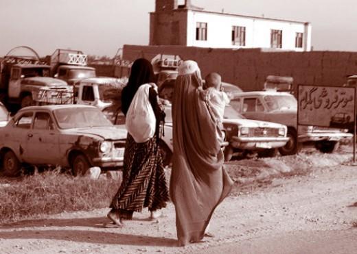 Veiled woman of Afghanistan