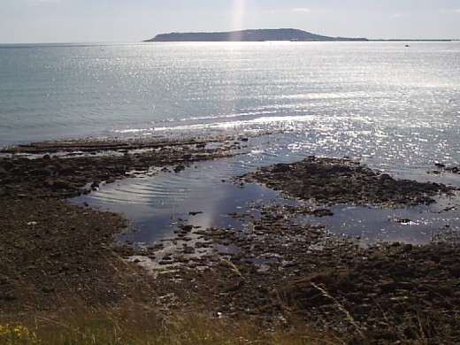 View from Osmington Mills towards the Isle of Portland, Dorset