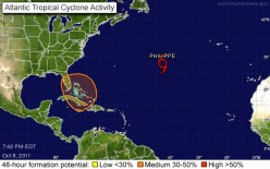 Tropical Cyclone Forming Over Florida