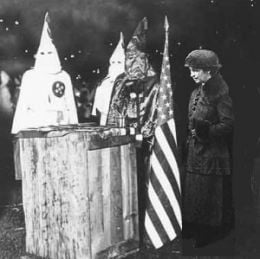 Liberal Magaret Sanger accepts a leadership award from the KKK. Then, calls the KKK a great organization! Hitler and Sanger were racists, and liberal socialists!