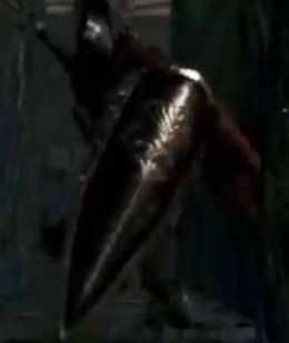 Dark Souls Skeletal Knight in Undead Parish Area