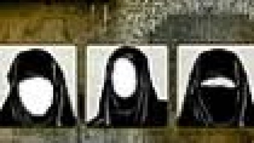 "Every news station ""pictured"" the Bin Laden wives--faceless women wearing Burkas."