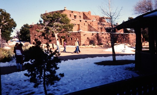 Hopi House as viewed in January