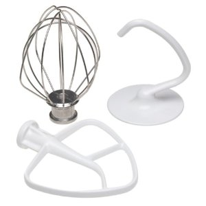 Flat beater, Wire Whip and Dough Hook