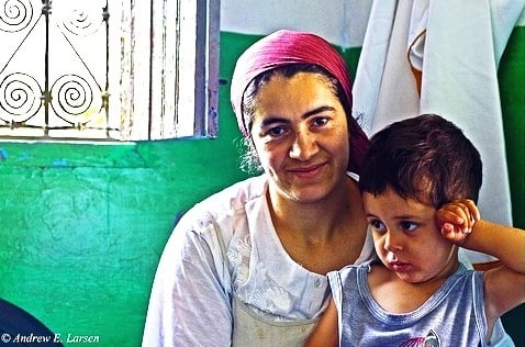 This Moroccan widow and her child received love in action when a missions team rebuilt her house.