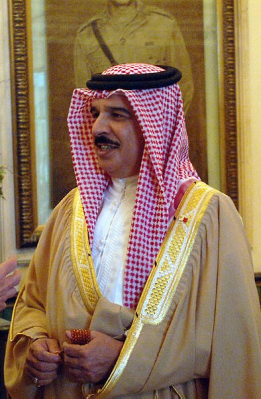 His Majesty King Hamad bin Isa Al Khalifa - King of Bahrain, source Wikimedia Commons