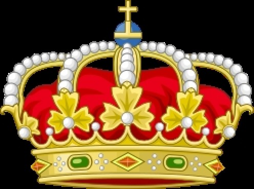 Heraldic Royal Crown of Spain - Countries with Kings, source Wikimedia Common