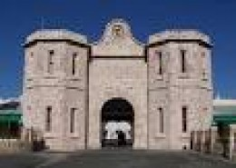 The gatehouse at Fremantle Prison from where Abbott escaped.