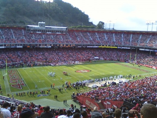 My first 49ers football game, against the Raiders to boot... thanks to LivingSocial!