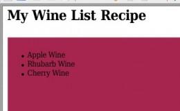 Wine Recipe List