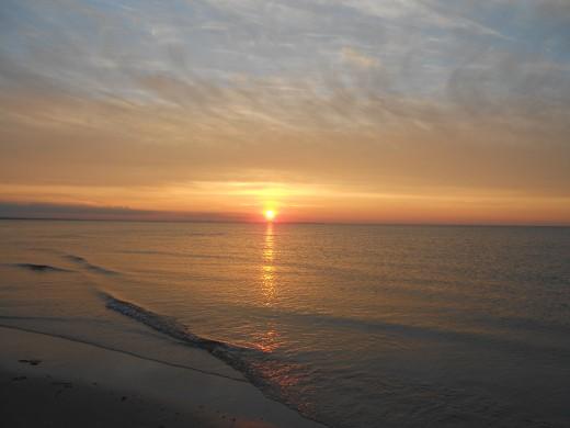 A gorgeous sunset at Chapan Beach.