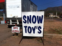 Snow toy's what? What do they own? Snow toys are plural only--not possessive.