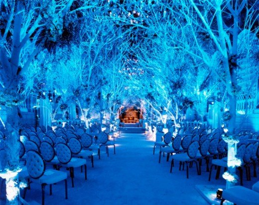 Having and elegant winter wedding doesn't have to break the bank.
