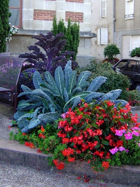 The municipal gardens are full of fruit and vegetables as well as flowers.
