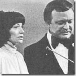 Mary Hardy with Bert Newton. She was from Bacchus Marsh