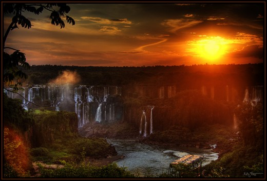 iguazu falls sunset - photo #19