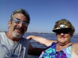 WIFE AND I ON THE LAST BOAT TRIP FOR THE 2011 BOATING SEASON.