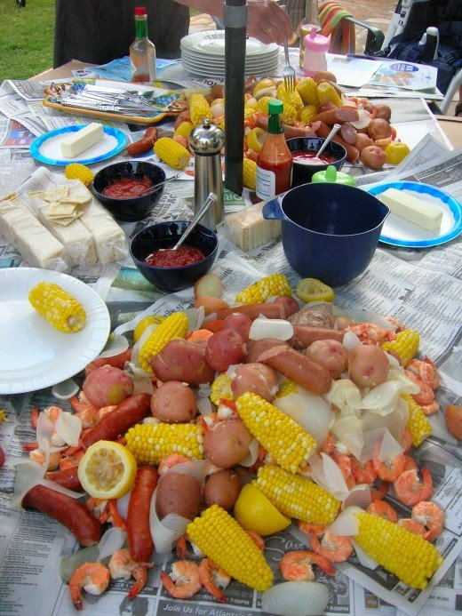 Thanksgiving dinner ideas: boiled shrimp.