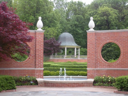 Photo 1 - I love this little fountain, large gazebo, and the pineapples which are very welcoming.  The circles and the Japanese Maples are lovely too.