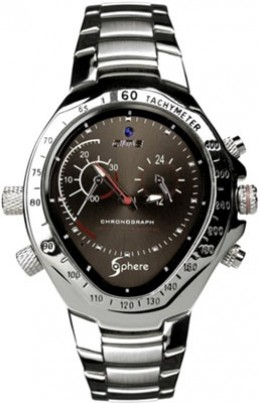 The Sphere Techs Watch Camera conceals a 720p HD camera inside a fully functional wristwatch.