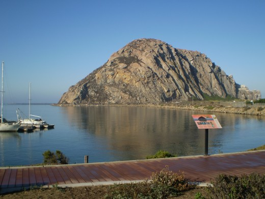 Morro Rock from the town of Morro Bay.