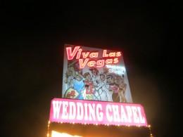 """""""Viva Las Vegas"""" wedding chapel."""