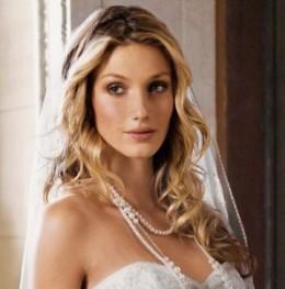 Wavy Long Wedding Hairstyle