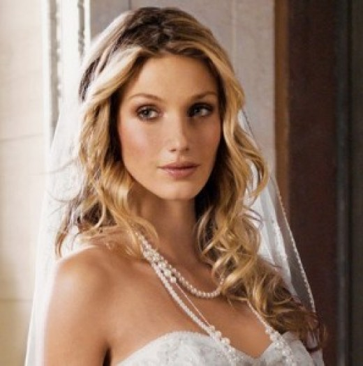 Wavy Long Wedding Hairstyle