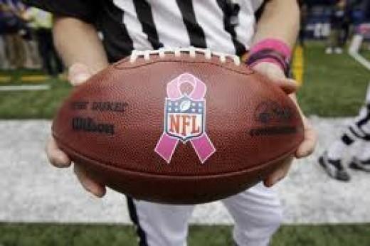 NFL with Pink Ribbon Emblem
