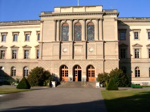 University of Geneva's 'Bastions' entrance