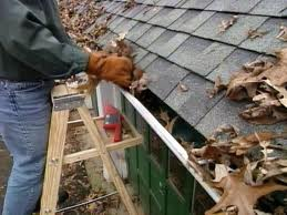 Cleaning out gutters is a great job during the fall and winter months.