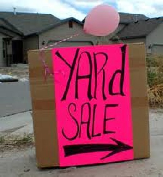 You can have a yard sale to make quick money.