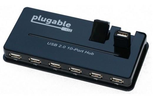 Plugable 10 port USB hub