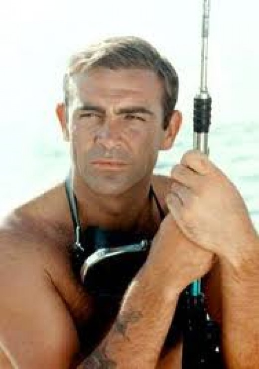 Sean Connery, in a screen capture from his Bond days.