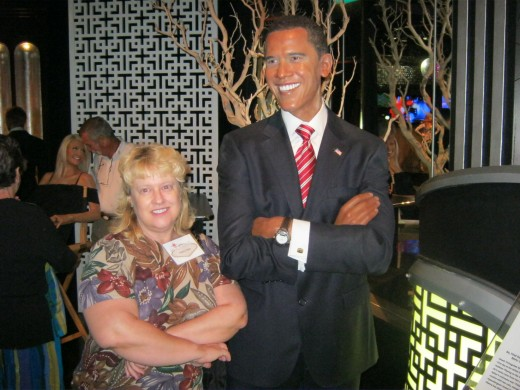 "Barack and I. I was gonna give him a little advice, but I think he had ""wax"" in his ears! ;)"