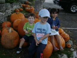 Smiling Faces at the Pumpkin Patch