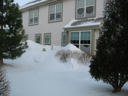 A blizzard in Wisconsin in 2010!