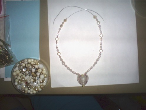 Part of the fun of making your own necklace is using beads that are not always uniform in shape.