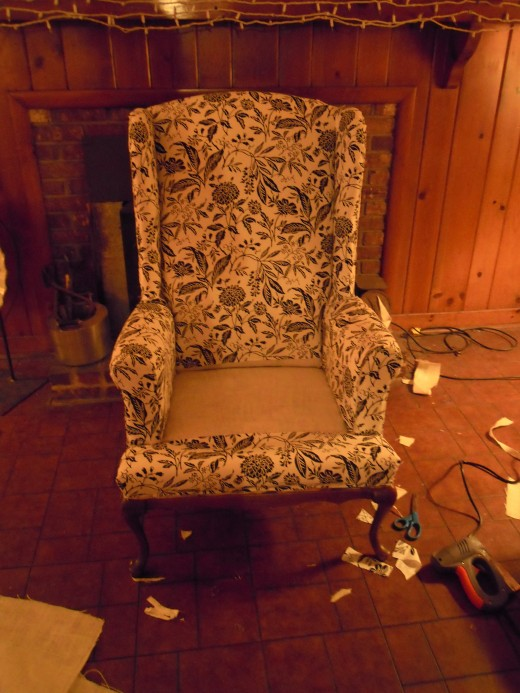 the finished chair, except for the seat cushion