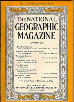 January 1945 Issue National Geographic Magazine