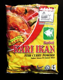 any brand of fish curry powder will suffice