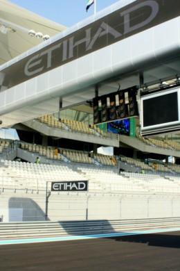 The Starting Lights at the Abu Dhabi Grand Prix