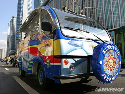 Electronic Jeepney in the Philippines