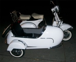Vespa sidecars in Manila Philippines