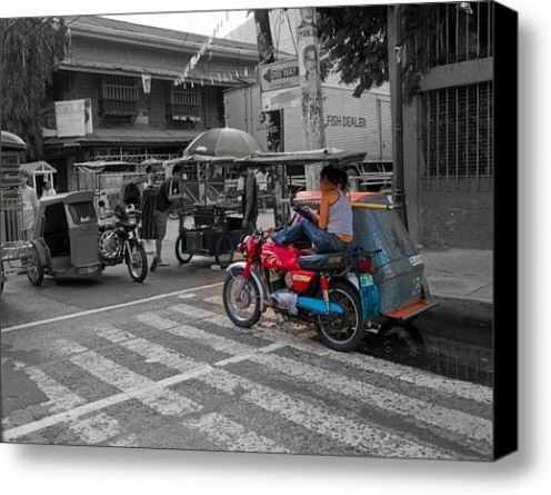 ASIA-PHILIPPINES-MOTORCYCLE-SIDECAR-TAXI