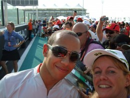 I managed to get a picture with Lewis Hamilton!